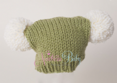 Christmas Pom Pom Hat GREEN